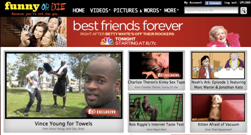 Noah's Ark featured on the Funny or Die homepage today.